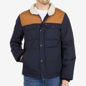 BNWT Levi's® Arctic Cloth Quilted Woodsman Trucker Sherpa Jacket
